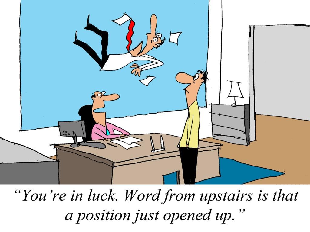 Falling Employee